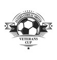 international soccer veterans cup logotype or vector image