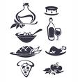 italian menu vector image vector image