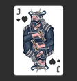 japanese samurai playing card warriors with vector image