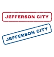 Jefferson City Rubber Stamps vector image vector image