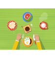 Kitchen Top View Poster vector image vector image