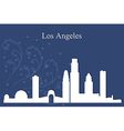 Los Angeles city skyline on blue background vector image vector image