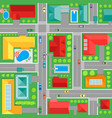 map of town top view background pattern vector image vector image