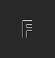 Mockup logo F letter line geometric shape design vector image vector image