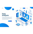 modern isometric design big data analysis vector image vector image