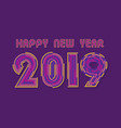 new year 2019 poster design vector image vector image