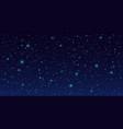night sky background dark sky with stars vector image vector image