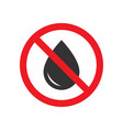 no water drops sign vector image vector image