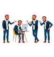 office worker emotions various gestures vector image