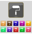 Paint roller sign icon Painting tool symbol Set of vector image vector image