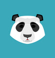 panda sleeping emoji chinese bear asleep emotion vector image vector image