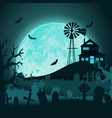 paper art happy halloween card cut style vector image vector image