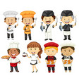 People doing different types of occupations vector image vector image