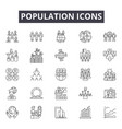population line icons signs set outline vector image vector image