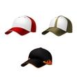 Realistic baseball cap vector image vector image