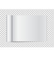 realistic blank open magazine with rolled white vector image vector image