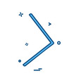 right arrow icon design vector image vector image