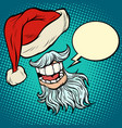 santa claus beard and hat vector image vector image