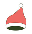 santa claus christmas cap up on color section vector image vector image