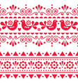 scandinavian folk seamless long pattern vector image vector image