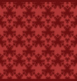 seamless pattern with red damask ornament vector image vector image