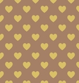 Seamless polka dot dark brown pattern vector image
