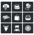 set recreation and entertainment icons vector image vector image