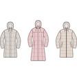 set womens winter down long coat vector image