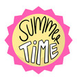 summer time circle pink frame background im vector image vector image