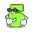 super cool cartoon house number five on wall vector image vector image