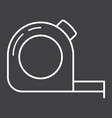 tape measure line icon build and repair vector image vector image