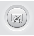 Teamwork Icon Grey Button Design vector image vector image