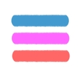 Three strips of colored chalk picture vector image vector image