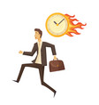 time management and clock vector image
