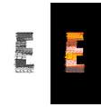 tire track letter e vector image vector image