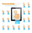 Touch screen gestures icons vector image vector image