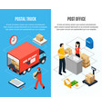two vertical mail isometric banner set vector image vector image
