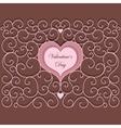 Vintage Heart Pattern vector image vector image
