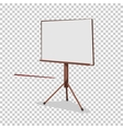 White board for presentation in an office and vector image