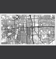 wichita kansas usa city map in retro style vector image