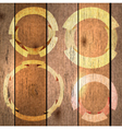wood background with labels vector image