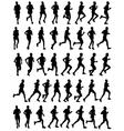 40 marathon runners vector image vector image