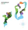 Abstract color map of Mozambique vector image vector image