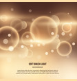 abstract gold background with bokeh effect vector image