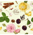 aromatic tea pattern vector image vector image