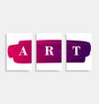 art-banner-pink vector image vector image