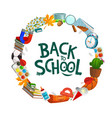 back to school college student education supplies vector image vector image