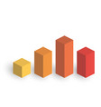 bar chart 4 growing columns 3d isometric vector image vector image