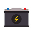 battery with lightning bolt icon image vector image