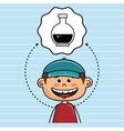 boy cartoon cap icon vector image vector image